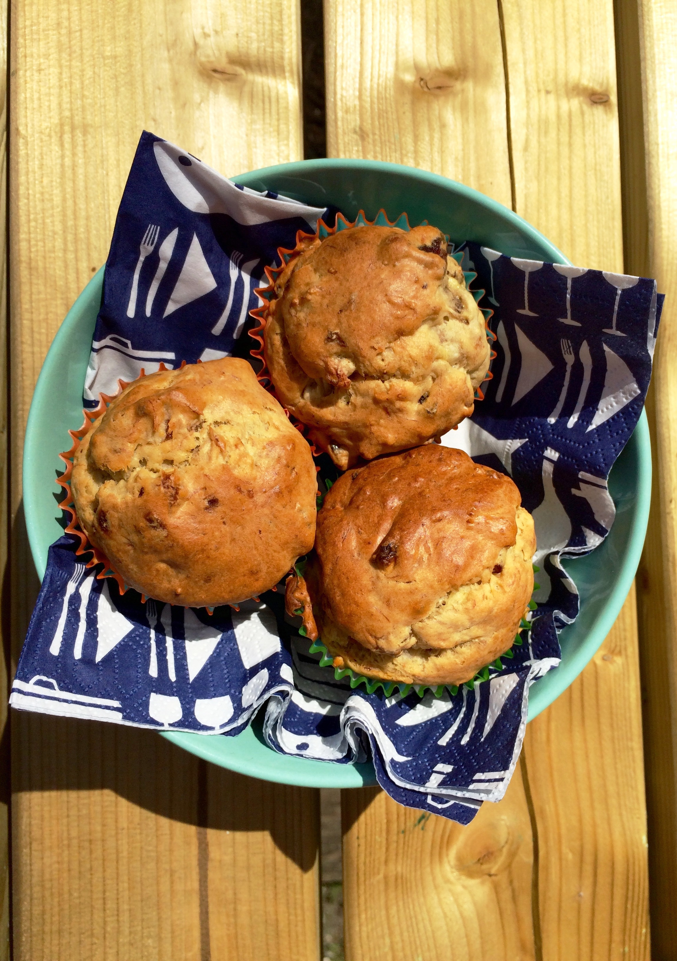 Tuttifrutti-muffins met kokosrasp