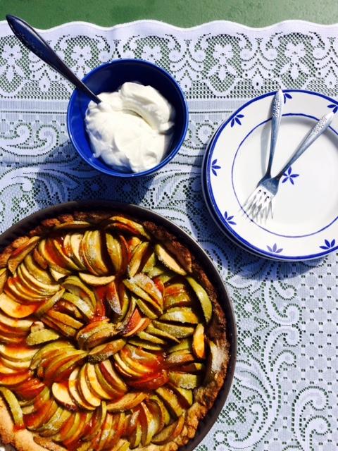 Eenvoudige Franse appeltaart
