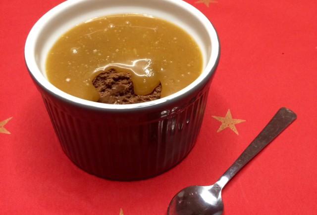 Chocolademousse met karamel zeezout