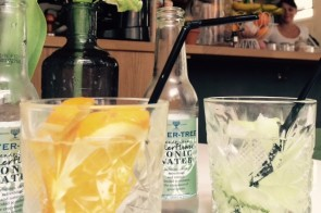 Homemade gin-tonic