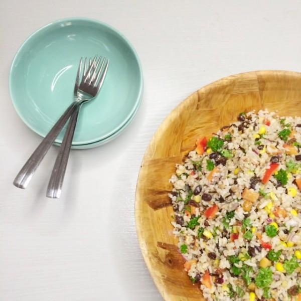Rijstsalade met maïs & zwarte bonen van het North Star Café2