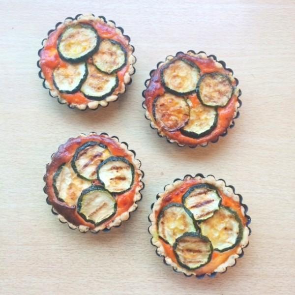 Fleurige ratatouille-taartjes met geitenkaas2