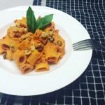 Pasta met romige tomaat-mascarponesaus