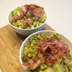 Stamppotje met kikkererwten, broccoli & spek