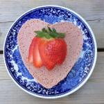 Gezonde kwarktaartjes met aardbeien