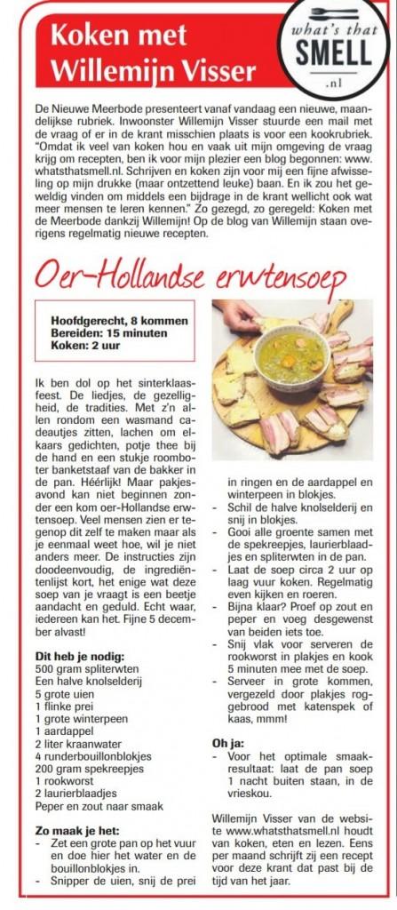 Koken met Willemijn Visser - Erwtensoep
