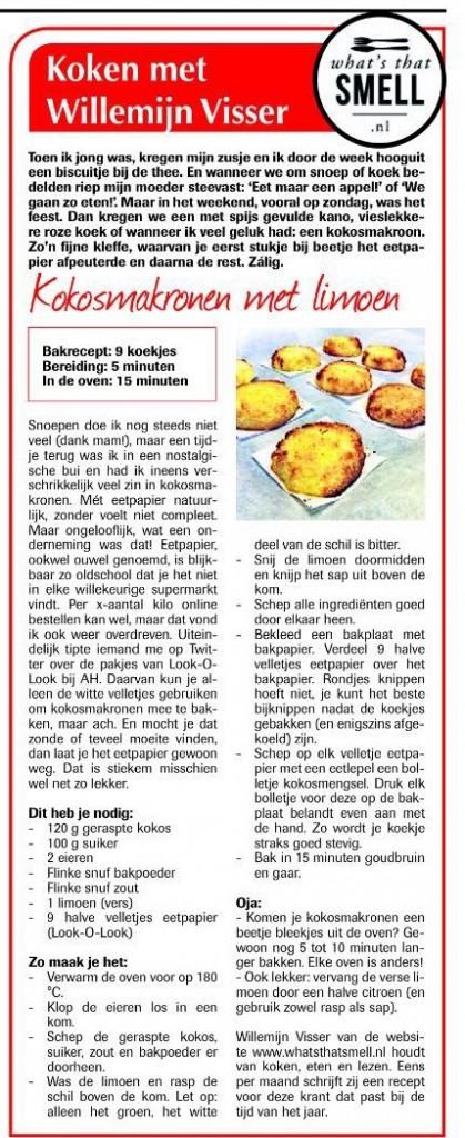 Koken met Willemijn Visser - Kokosmakronen