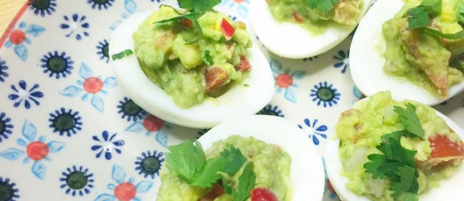 Recept gevulde eieren met guacamole